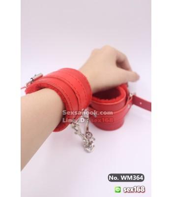 กุญแจมือ พันธนาการ BDSM สีแดงสดใส สินค้าคุณภาพดี ตัวล็อคแน่น ไม่หลุดง่าย มีขนนุ่มๆทำให้ไม่เจ็บค่า